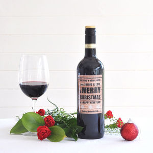 Christmas Personalised Red Wine - for foodies