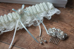 Bridal Garter New 2015 'Elle' Vintage Inspired Garter - weddings sale