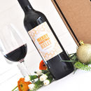 Personalised Premium Red Wine For Christmas