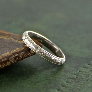Sterling Silver Pattern Band Ring - rings