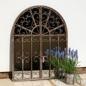 Arched Window Garden Mirror