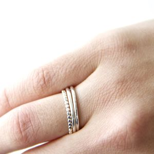 Set Of Sterling Silver Stacking Rings