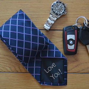 Personalised Secret Message Tie - ties & tie clips
