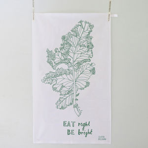 'Eat Right' Kale Tea Towel - gifts for the health conscious