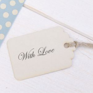 Vintage Style 'With Love' Favour Tags