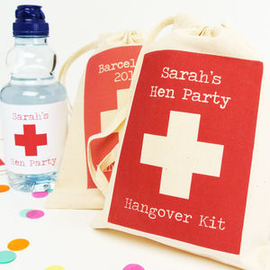 Personalised Hangover Recovery Bags - ribbon & wrap