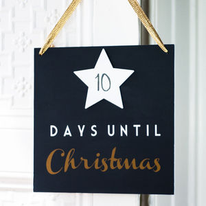 Festive Countdown Sign - christmas signs & decorative letters