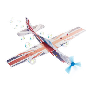 Bubble Making Foam Flying Plane Glider - garden sale