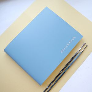 Leather Bound Sketch Book - mindfulness trend