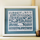 Personalised Christening / Baptism Gift Papercut