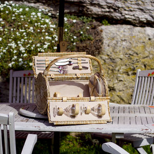 Barrel Shaped Picnic Hamper - camping