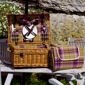 Tartan Picnic Hamper - gifts for her