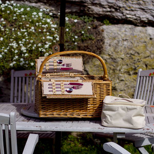 Bottle Lidded Picnic Hamper - picnic hampers & baskets