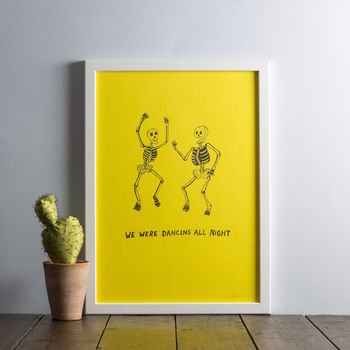 'We Were Dancing All Night' Print