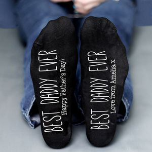 Best Daddy Ever Personalised Socks - men's fashion
