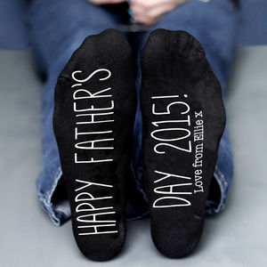 Personalised Father's Day Year Socks - socks