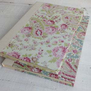 A5 Journal In Rhubarb Paisley