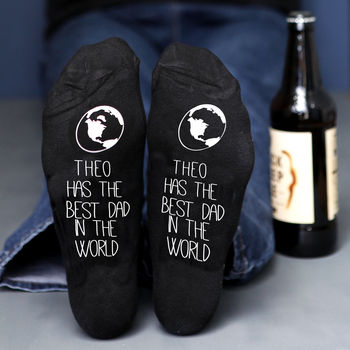 Best Dad In The World Personalised Socks