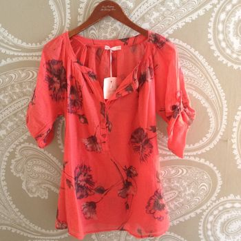 Fleur Cotton Top Orange