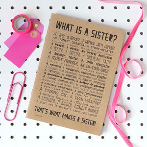 Sister Poem Slim Notebook