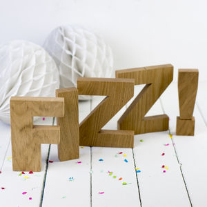 Wooden Letters - decorative letters