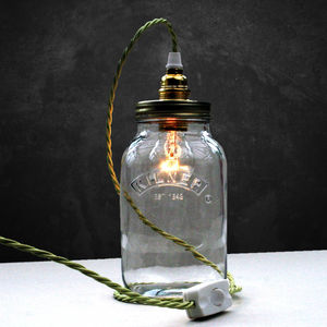 Bespoke Kilner Jar Table Lamp - cosy picnic