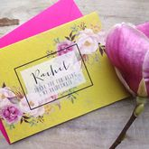 Watercolour Flower Bridesmaid Card - cards