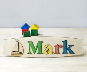 Personalised Name Puzzle With Sailing Boat