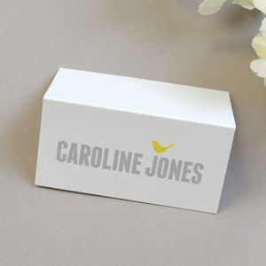 Love Bird Personalised Place Card/Name Card