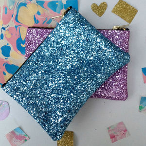Pastel Glitter Party Zip Pouch - whatsnew
