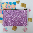 Pastel Glitter Party Zip Pouch