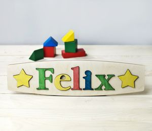 Personalised Name Puzzle With Stars - more