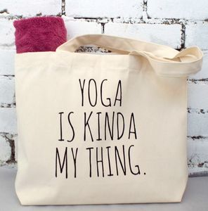 'Yoga Is Kinda My Thing' Gym Tote Bag - new baby gifts