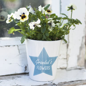 Personalised Plant Pot - gifts for grandparents