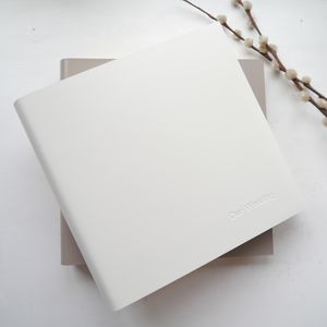 Personalised Natural Tones Leather Photo Album