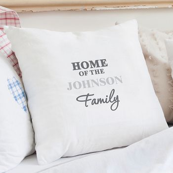 The Family Personalised Cushion Cover