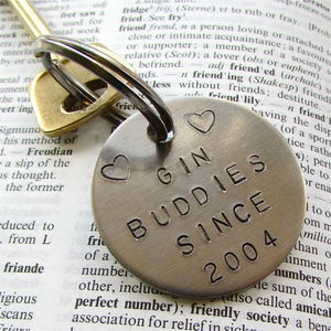 Personalised Friendship Keyring - top 50 gin gifts