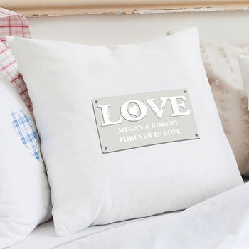 Love Personalised Cushion Cover
