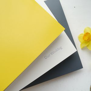 Yellow And Grey Leather Photo Albums - albums & guest books