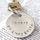 Personalised 'Mr And Mrs' Wedding Day Keyring
