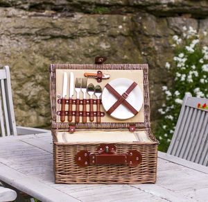 Chiller Picnic Hamper For Two - 5th anniversary: wood