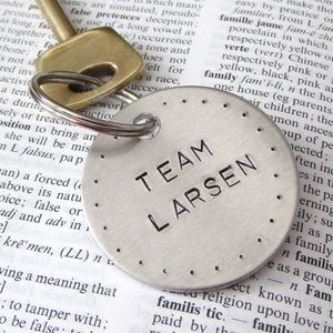 Personalised Family Team Keyring - for new dads