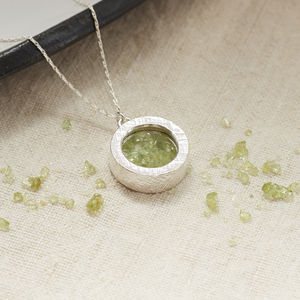 Peridot Birthstone Locket Necklace - birthday gifts
