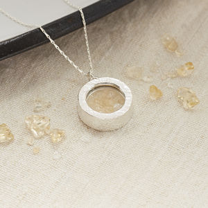 Citrine Birthstone Locket Necklace
