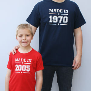Personalised Made In T Shirt Set - clothing