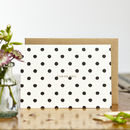 Painted Polka Dot Thank You Card