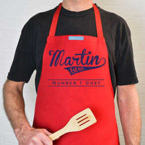 Personalised Retro Style Apron - gifts under £25 for him