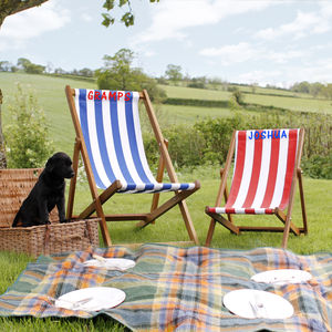 Personalised Deckchair - garden furniture