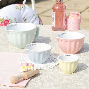 Ceramic Vintage Pastel Measuring Cups