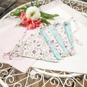 Summertime Cotton Floral Bunting - children's parties